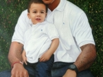 Dez Briscoe With Son 2 24x36