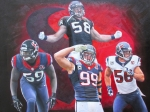 4 Texans Linebackers 16x20