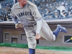 Babe Ruth Pitching 16x20