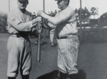 Walter Johnson and Babe Ruth 16x20